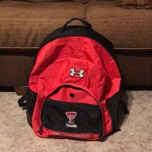 Under Armour backpack. Texas tech